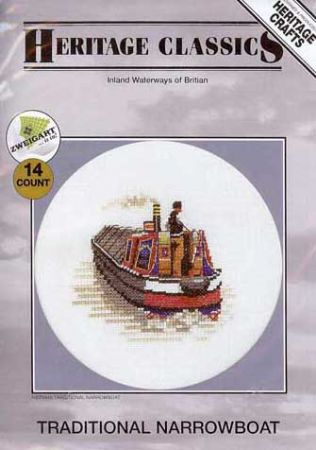 Traditional Narrowboat Counted Cross Stitch Kit